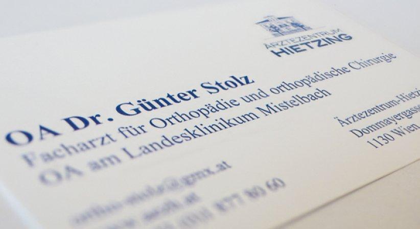 OA Dr. Günter Stolz - Orthopäde Wien 1130